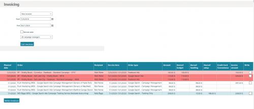 CRM Agentur - Rechnungen