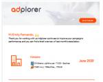 Email Reporting via Adplorer