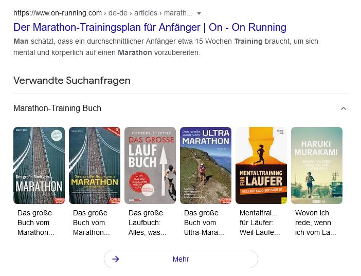 Marathon Training unten